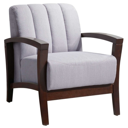 Enamor Fabric Arm Chair - Walnut Gray