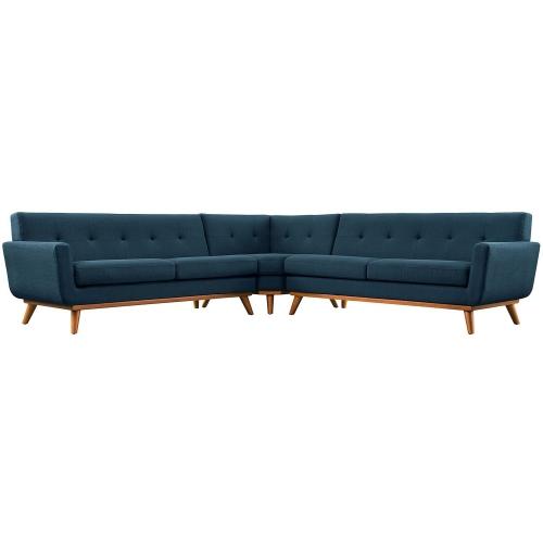 Engage L-Shaped Sectional Sofa - Azure