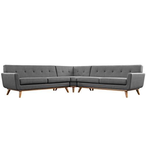 Engage L-Shaped Sectional Sofa - Gray