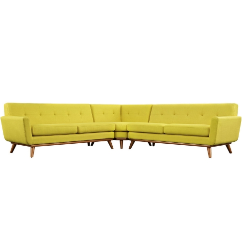 Engage L-Shaped Sectional Sofa - Sunny