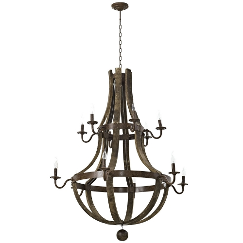 Trebuchet Chandelier - Brown