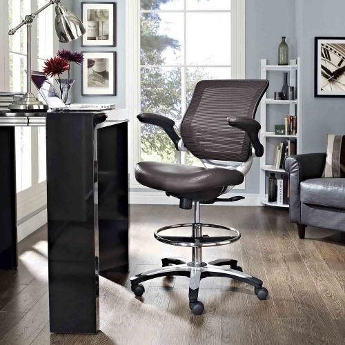 Edge Drafting Stool - Brown