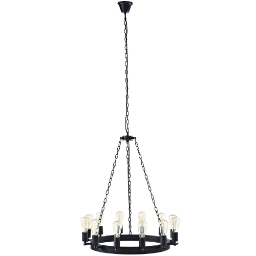 Teleport 29-inch Chandelier - Brown