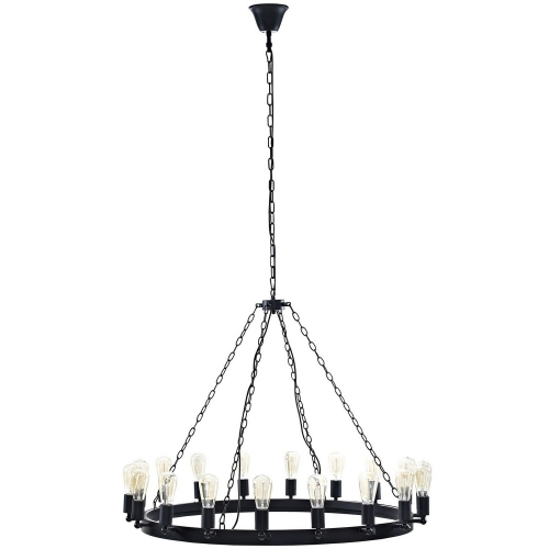 Teleport 43-inch Chandelier - Brown