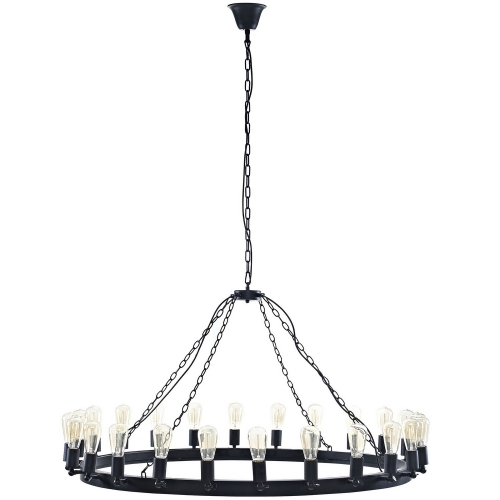 Teleport 52-inch Chandelier - Brown