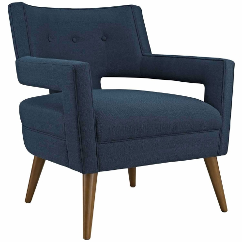 Sheer Fabric Arm Chair - Azure