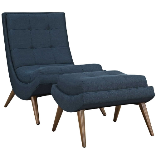 Ramp Fabric Lounge Chair Set - Azure