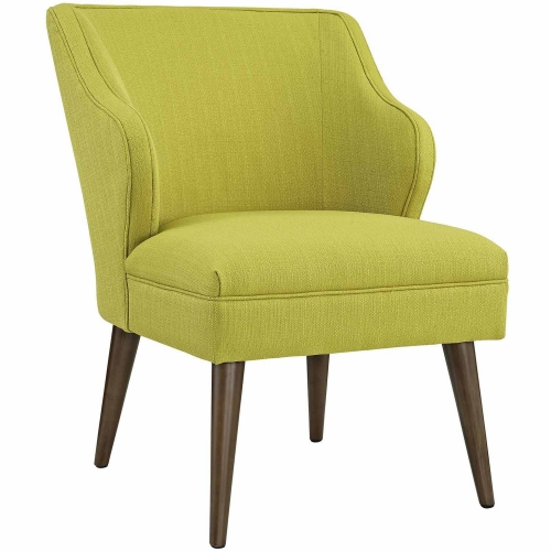 Swell Fabric Arm Chair - Wheatgrass