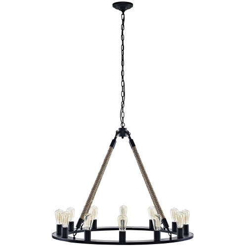 Encircle Chandelier - Brown