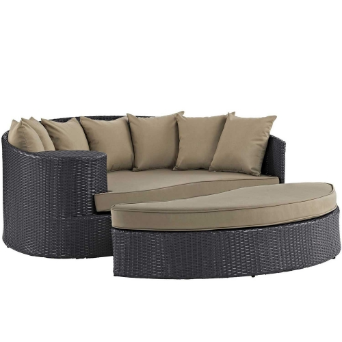 Convene Outdoor Patio Daybed - Espresso Mocha