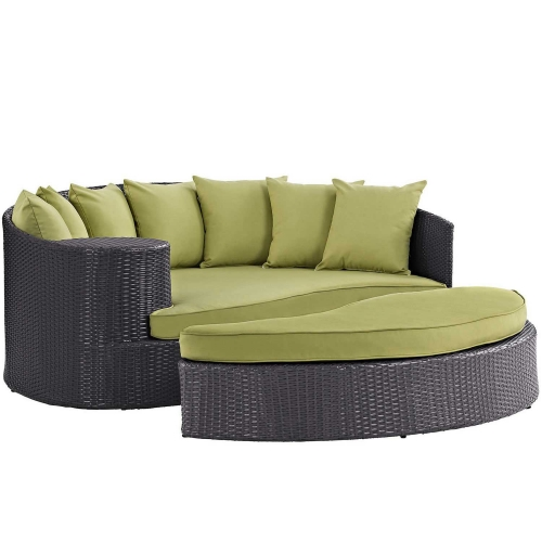 Convene Outdoor Patio Daybed - Espresso Peridot