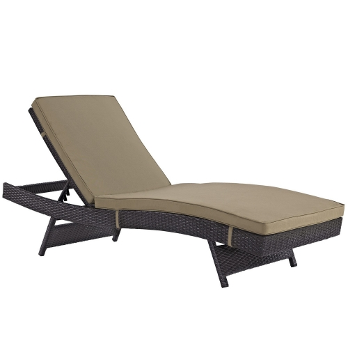 Convene Outdoor Patio Chaise - Espresso Mocha