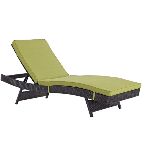 Convene Outdoor Patio Chaise - Espresso Peridot