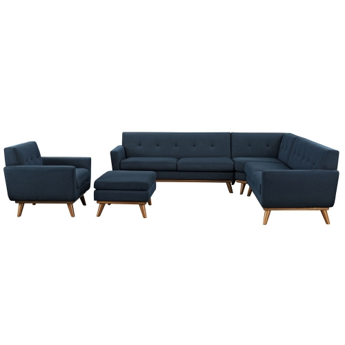 Engage 5 Piece Sectional Sofa - Azure