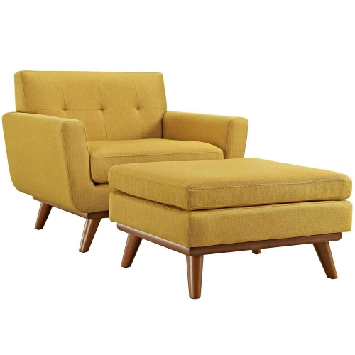 Engage 2 Piece Chair and Ottoman - Citrus