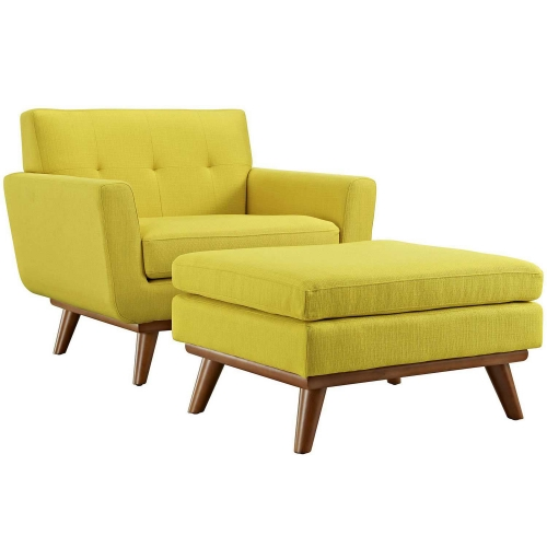 Engage 2 Piece Chair and Ottoman - Sunny