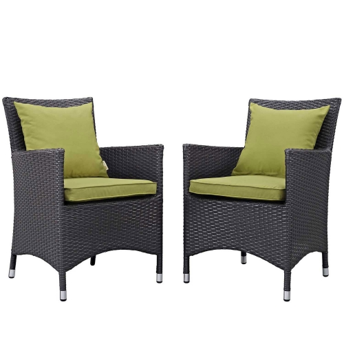 Convene 2 Piece Outdoor Patio Dining Set - Espresso Peridot