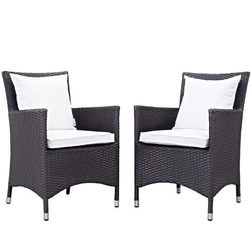 Convene 2 Piece Outdoor Patio Dining Set - Espresso White