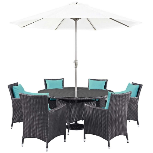 Convene 8 Piece Outdoor Patio Dining Set - Espresso