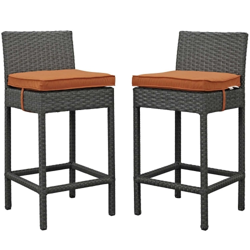 Sojourn 2 Piece Outdoor Patio Sunbrella Pub Set - Canvas Tuscan