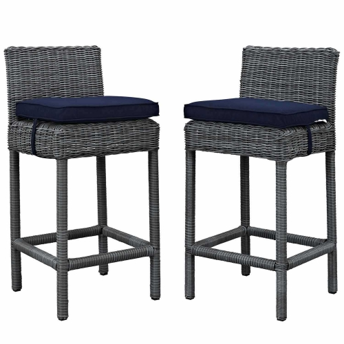 Summon 2 Piece Outdoor Patio Sunbrella Pub Set - Canvas Navy