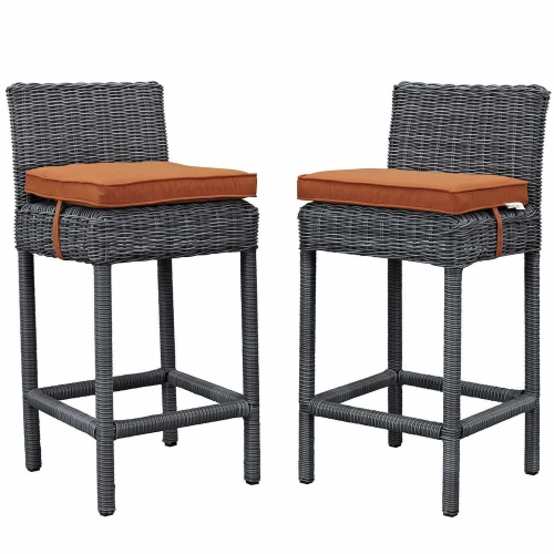 Summon 2 Piece Outdoor Patio Sunbrella Pub Set - Canvas Tuscan