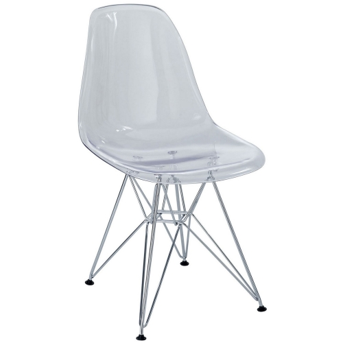 Paris Dining Polycarbonate Side Chair - Clear