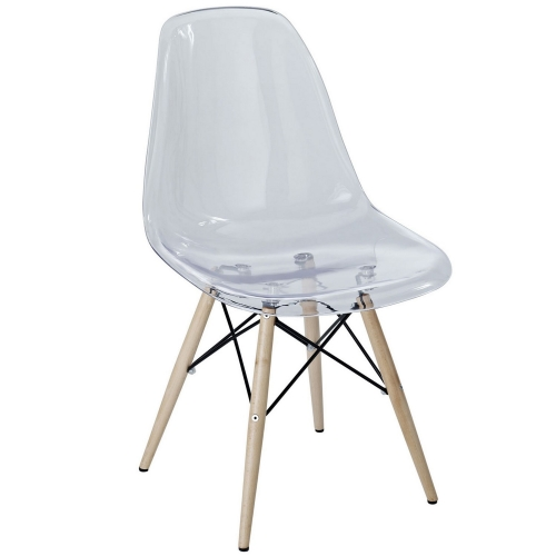 Pyramid Dining Side Chair - Clear
