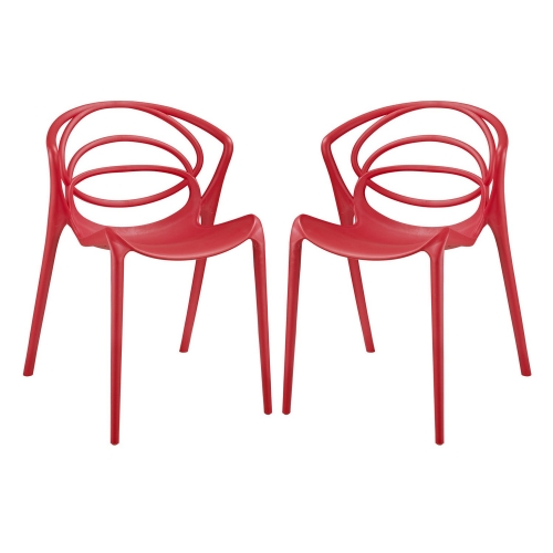 Locus Dining Chair - Set of 2 - Red