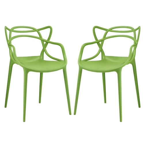 Entangled Dining Chair - Set of 2 - Green