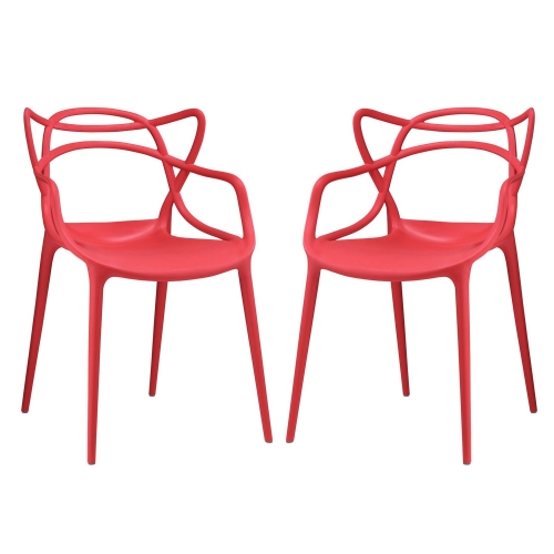 Entangled Dining Chair - Set of 2 - Red
