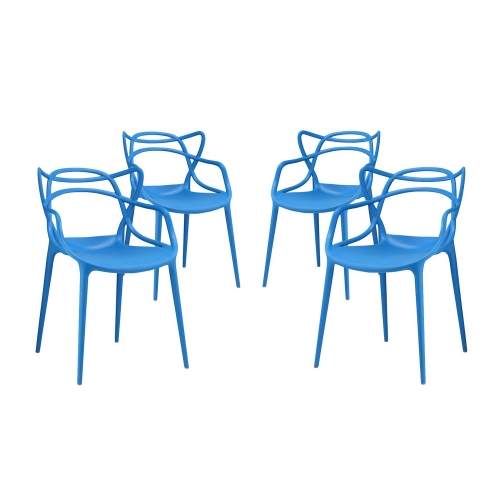 Entangled Dining Chair - Set of 4 - Blue