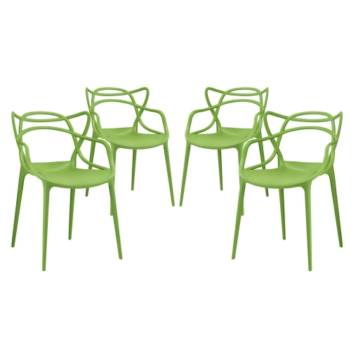 Entangled Dining Chair - Set of 4 - Green