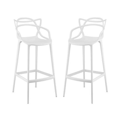 Entangled Bar Stool Set of 2 - White
