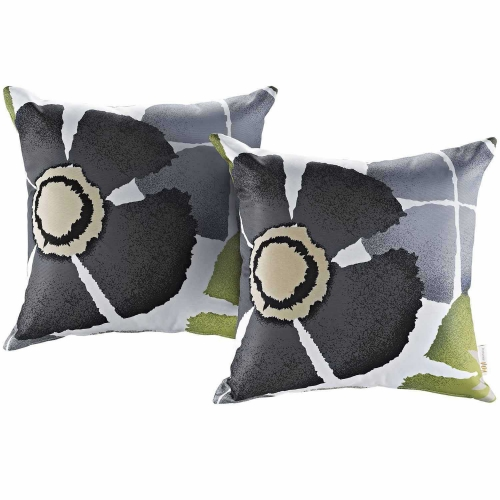 Modway Two Piece Outdoor Patio Pillow Set - Botanical