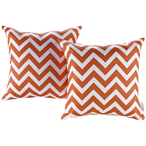 Modway Two Piece Outdoor Patio Pillow Set - Chevron