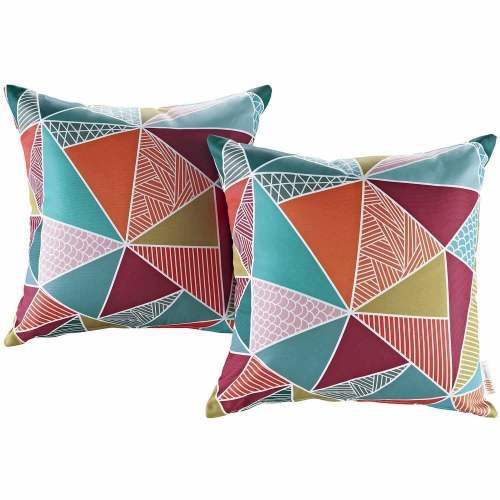 Modway Two Piece Outdoor Patio Pillow Set - Mosaic