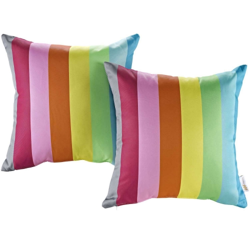Modway Two Piece Outdoor Patio Pillow Set - Rainbow