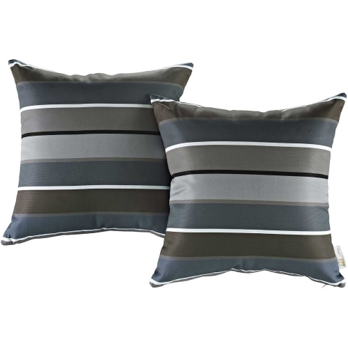 Modway Two Piece Outdoor Patio Pillow Set - Stripe
