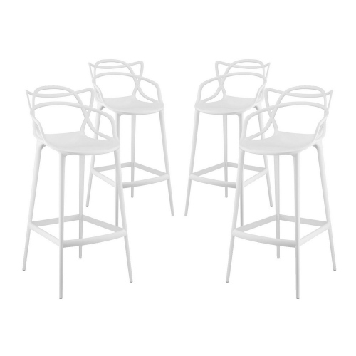 Entangled Bar Stool Set of 4 - White