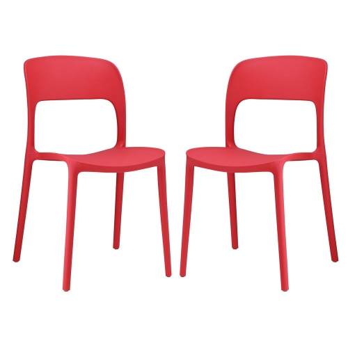 Hop Dining Chair - Set of 2 - Red