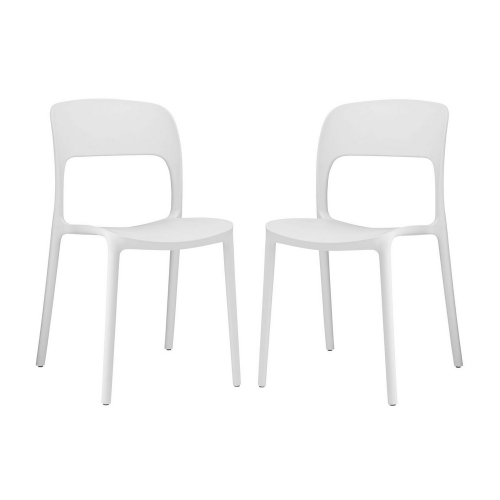 Hop Dining Chair - Set of 2 - White