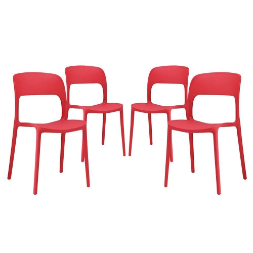 Hop Dining Chair - Set of 4 - Red