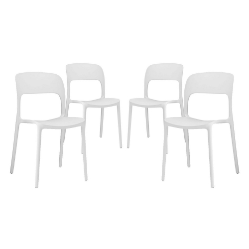 Hop Dining Chair - Set of 4 - White