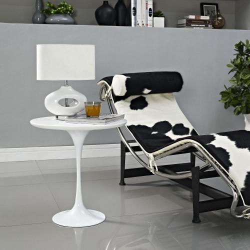 Lippa 20 Wood Side Table - White