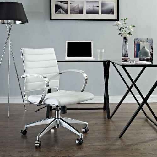 Jive Mid Back Office Chair - White