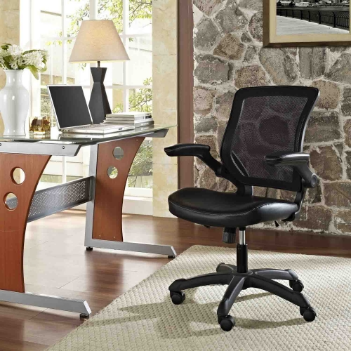 Veer Vinyl Office Chair - Black