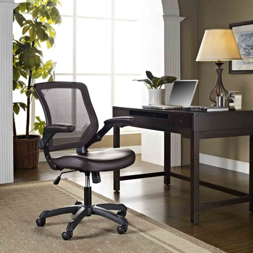 Veer Vinyl Office Chair - Brown
