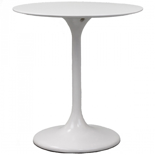 Lippa 28 Fiberglass Side Table - White