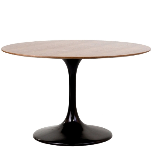 Lippa 48 Walnut Dining Table - Black